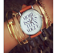 More Issues Than Vogue Watch, Vintage Style Leather Watch, Women Watches,Boyfriend Watch, Men'S Watch ,Quotes Watch