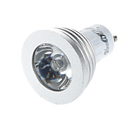 YouOKLight® 1PCS GU10 3W 1-LED Decoration Bulb Remote Lamps RGB Light 260lm - White (AC 85~265V)