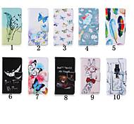 Estojo de couro padrão especial pu carteira de 4 polegadas com suporte para o iPod touch 5 / touch 6 (cores sortidas)