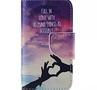Finger Love Pattern Cell Phone Leather For iPhone 4/4S