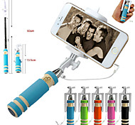VORMOR®Extendable Wired Remote Shutter Handheld Selfie Stick Monopod For iPhone Samsung