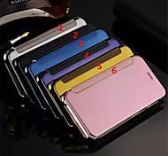 neueste Flip-Cover Spiegelfläche iuxurious galvanisieren pc Handy Shell für iphone6plus 6splus 5,5 farblich sortiert