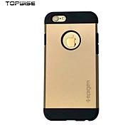 topwise® armadura dura para el iphone de apple 6 / 6s caso armadura delgada para el iphone 6 contraportada caja estanca
