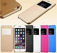 Smart View Screen Touch PU Leather Case for iPhone5/5S (Assorted Colors)