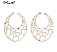D Exceed Hollow Out Little Silver Light Earring Shinnng Earrings for 2016 Winter Europe Retro Desinger Earring
