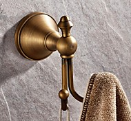 Robe Hook, Antique Brass Finish Wall-mounted,Bathroom Accessory