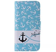 Anchors Pattern Cell Phone Leather For Samsung Galaxy Note 5