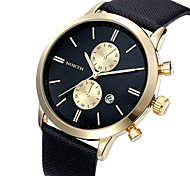 Fashion Men Casual Waterproof Date Watch Leather Military Japan Business Watch Accurate Time Dress Watches