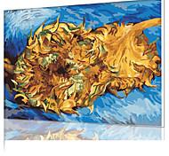 DIY цифровой живописи маслом кадр картины семейного отдыха всего себя Ван Гога - двух срез подсолнечного x5050
