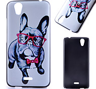 Glasses Dog Pattern PC Material Phone Case for Wiko Birdy