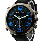 Men's Watch Japanese Quartz Military Silicone Strap Wrist Watch Cool Watch Unique Watch