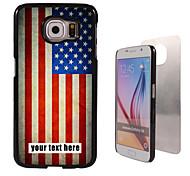 caja personalizada - caja de metal de la bandera americana de diseño para el borde samsung galaxy s6 / s6 / nota 5 / a8 y otros
