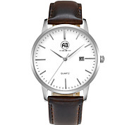 AIBI® Men's Fashion Watch Calendar Water Resistant Fabio Miami Silver Brown Watch Gift For Men Wrist Watch Cool Watch Unique Watch With Watch Box
