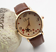 Women's Fashion Personality Star Leather Quartz Belt Watch(Assorted Colors) Cool Watches Unique Watches