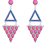 European Style  Fashion Double-Deck Triangle Joint Earrings