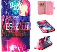 Bright Pattern Flip Card Leather Phone Case for Wiko LENNY