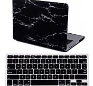"""2015 New Black  Marble Hard Case Cover +keyboard Cover for MacBook Pro 13.3"""" /15.4"""""""