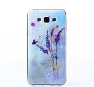 Lavender Painting Pattern TPU  Back Case For Samsung Galaxy J7
