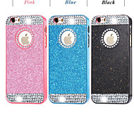 Top Fashion Glitter Powder Rhinestone Bling with Hole Hard Back Case for iPhone 6/6S(Assored Colors)