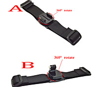 gopro accessori 360 gradi cinturino del casco black edition per go pro eroe 1234 telecamera xiaomi yi sjcam sj4000 sj8000 sportivo