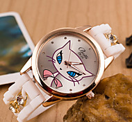 Woman And Men Diamond Metal Chain Silicone Wrist Watch Cool Watches Unique Watches