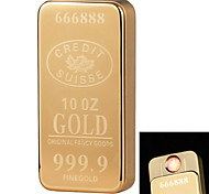 1926 Personality Originality Charging Lighter Ultra Thin Windproof Electronic Cigarette Lighter Metal Silent Gold