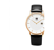 AIBI® Men's Fashion Watch Calendar Water Resistant Rose Gold Dail Black Designer Dress Watch Leather Band Casual Watch Wrist Watch With Watch Box