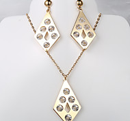 The European and American fashion new diamond drill 6 necklaces earrings suit
