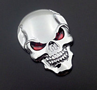 Motorcycle Car Auto Logo 3D Metal Emblem Badge Decal Skeleton Skull Bone Sticker