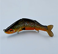 New 11.5 CM 19 Gram Multi-jointed Fishing Lures Soft Tail  Brown Trout Swim Bait for Top Water Fishing