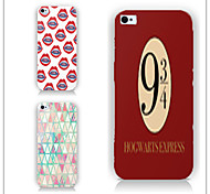 Digital Triangle Pattern PC Phone Case Back Cover Case for iPhone5C