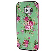 2-in-1 Flower Pattern PC Back Cover with PC Bumper Shockproof Hard Case for S6/S6 edge/G925/G920