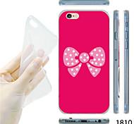 maycari®pink bowknot Muster TPU weiche transparente Tasche für iPhone 6