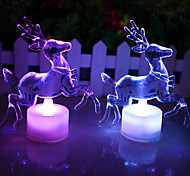 LED 7 Colors Changing Acrylic Christmas Deer Night Light Lamp Home Decor Gift