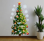 Merry Christmas Santa Tree PVC Wall Sticker Wall Decals