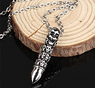 ailaicity®Stainless Steel Skull Bullet Man Necklace