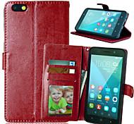 PU cuir carte portefeuille titulaire de luxe reposer le couvercle rabattable avec étui de cadre photo pour l'honneur de Huawei 4x