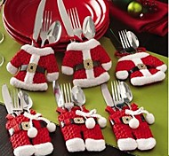 2015 Chrstmas Table Decoration  Santa Claus  Cutlery Cover 2pc/set 1Mini Clth and 1Pant
