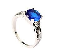 Micro-glazing Emerald Ring Sapphire-jewelry