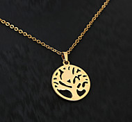 European  fashion personality pattern of titanium steel necklace 7- golden Christmas tree Party / Daily / Casual 1pc