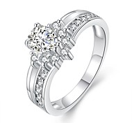 Xu™ Women's Diamonds 925 Silver Plated The Crown  Ring(Color Preserving More Than A Year)
