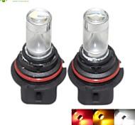 2 x 9004 HB1 P29T 30W 6xCREE White/Red/Yellow/Cold White 2100LM 6500K for Car Fog Light / daytime running lights 12-24V