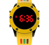Unisex Digital LED Colorful Rubber Sport Watch