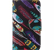 Leaves Graffiti Style Cell Phone Leather For Samsung Galaxy S5
