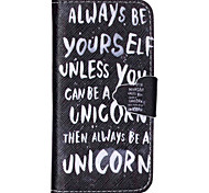 Cool Words Pattern PU Leather Full Body Cover with Stand for iPhone 6/iPhone 6S