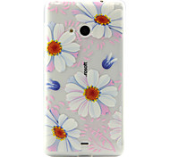 Sunflower Pattern TPU Phone Case For Nokia Lumia N535