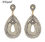 D Exceed Retro Statement Anti-gold Earrings Resin Beaded Drop Dangling for Women Waterdrop Dangle Earrings Free Shipping