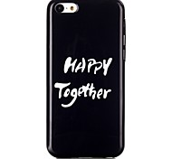 White Letter TPU Material Cell Phone Case for iPhone 5C