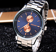 Men's Deluxe Business Round Dial Steel Strap Fashion Life Waterproof Quartz Watch