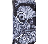 Painted Owl PU Wallet Case for iphone6/6S